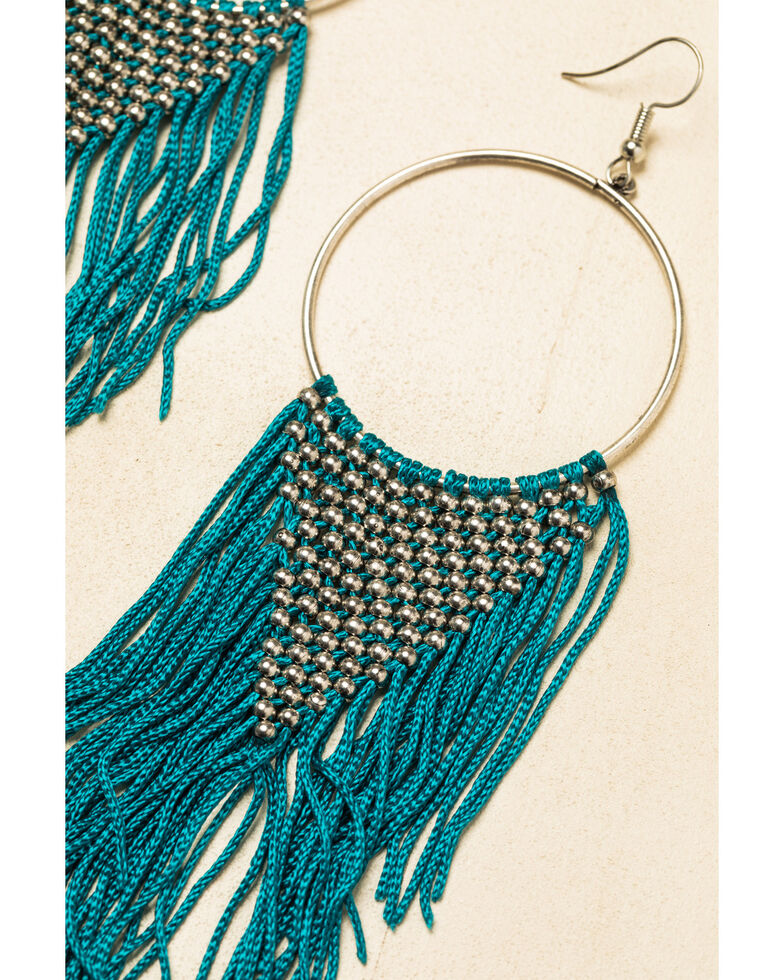 Idyllwind Women's The One In Turquoise Drop Fringe Earrings, Turquoise, hi-res