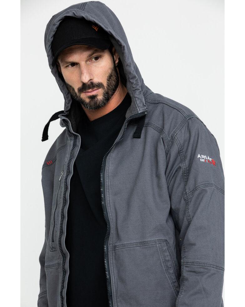 Ariat Men's FR Duralight Stretch Canvas Work Jacket - Tall , Grey, hi-res