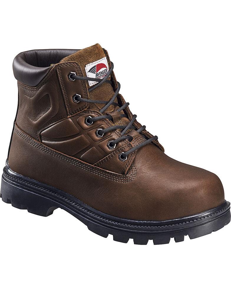 Avenger Men's Lace Up High Heat Steel Toe Work Boots, Brown, hi-res
