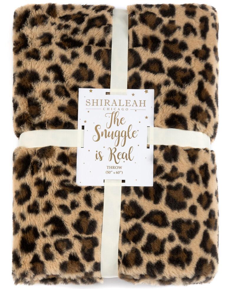 Shiraleah Leopard Print Jill Throw, Black/tan, hi-res