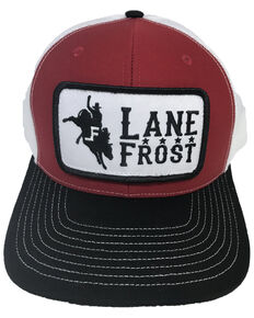 Lane Frost Men's Re-Ride Logo Ball Cap , Red, hi-res