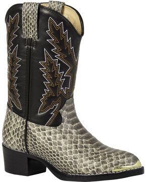 Durango Youth Snake Print Western Boots, Snake Print, hi-res