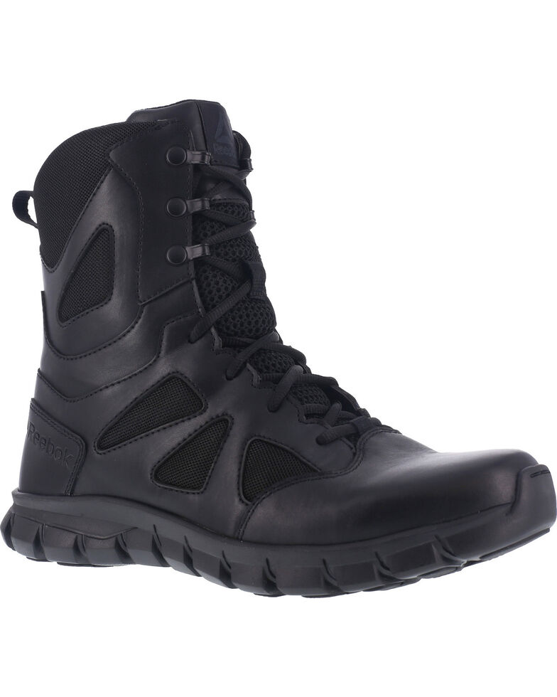 "Reebok Men's 8"" Sublite Cushion Tactical Boots - Soft Toe , Black, hi-res"