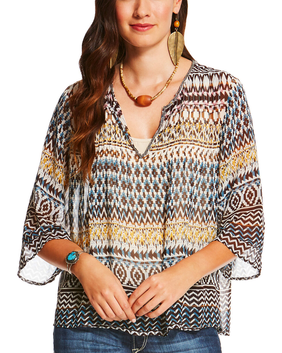 Ariat Women's Multi Barlow Tunic, , hi-res