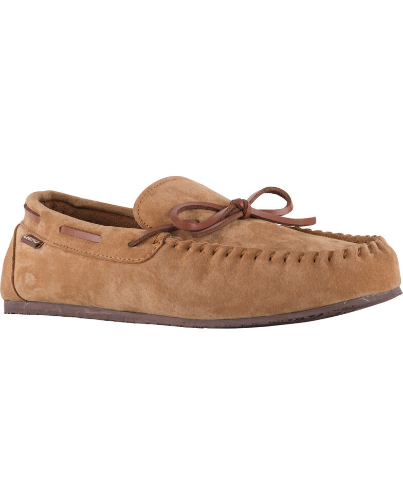 Lamo Footwear Men's Aiden Suede Lace Moccasins - Moc Toe, Chestnut, hi-res