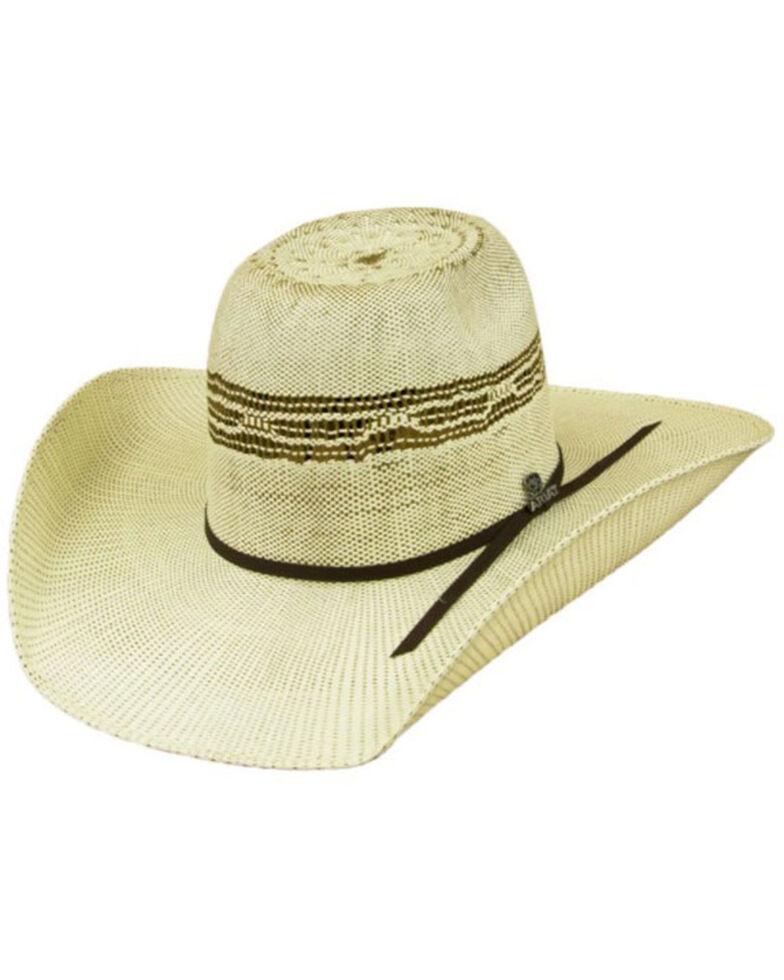 Ariat Men's Multi Tonal Straw Flat Western Hat , Multi, hi-res