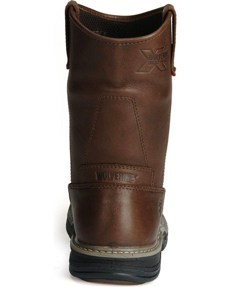 Wolverine Men's Buccaneer Multishox® Waterproof Wellington Work Boots, Dark Brown, hi-res