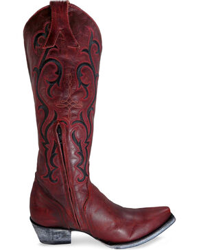 Old Gringo Women's Red Dolly Mayra Tall Boots - Snip Toe , Black/red, hi-res