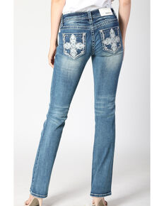 Grace in LA Women's Medium Cross Bootcut Jeans , Blue, hi-res