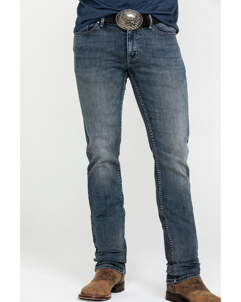 Moonshine Spirit Men's Sterlington Skinny Boot Jeans , Indigo, hi-res