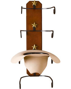 BB Ranch® Birch Cowboy Hat Rack, Brown, hi-res