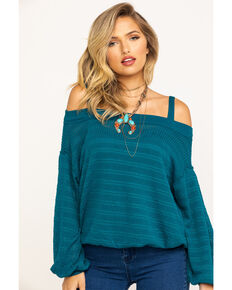 Free People Women's Sistine Hacci Top, Blue, hi-res