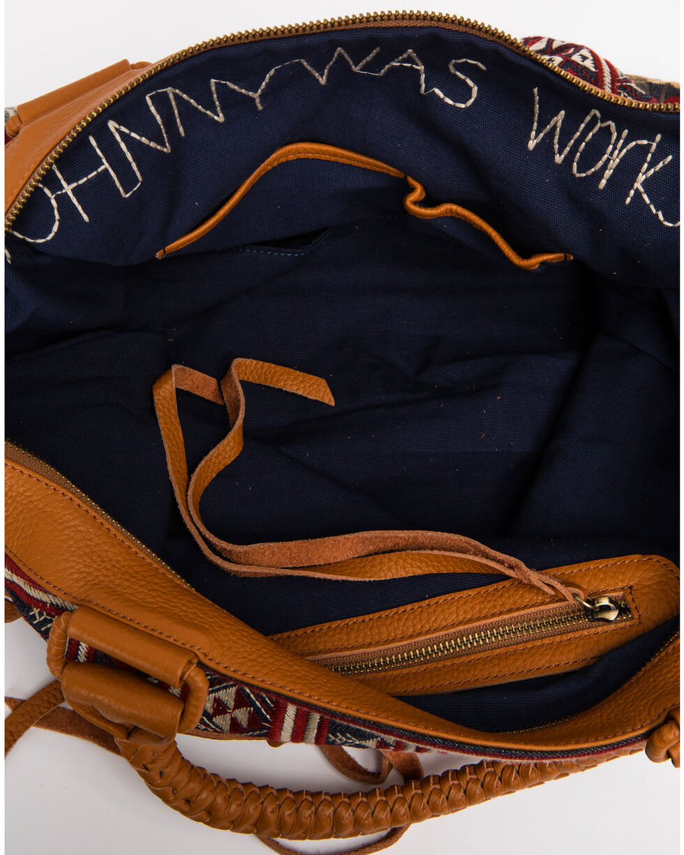 Johnny Was Women's Artemis Overnight Tote, Blue, hi-res