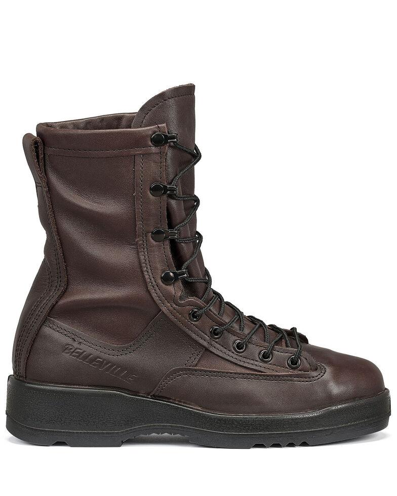 Belleville Men's Wet Weather Tactical Boots - Steel Toe, Chocolate, hi-res