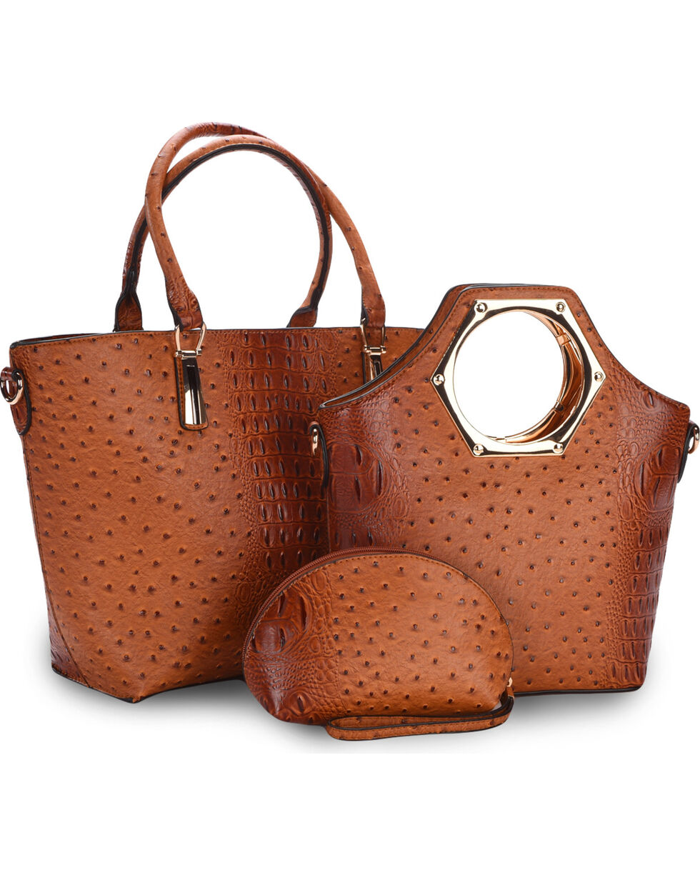 Wear N.E. Wear Women's Ostrich Print 3 Piece Bag Set, , hi-res