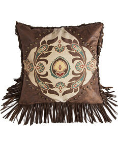 HiEnd Accents Western Style Pillow With Concho Detail, Multi, hi-res