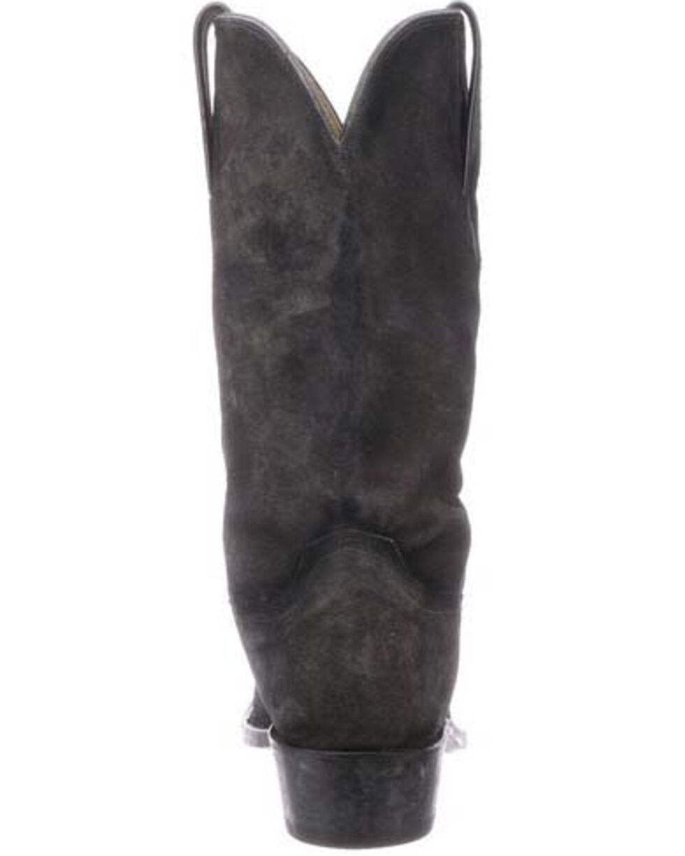 Lucchese Men's Livingston Frontier Suede Western Boots - Narrow Square Toe, Grey, hi-res