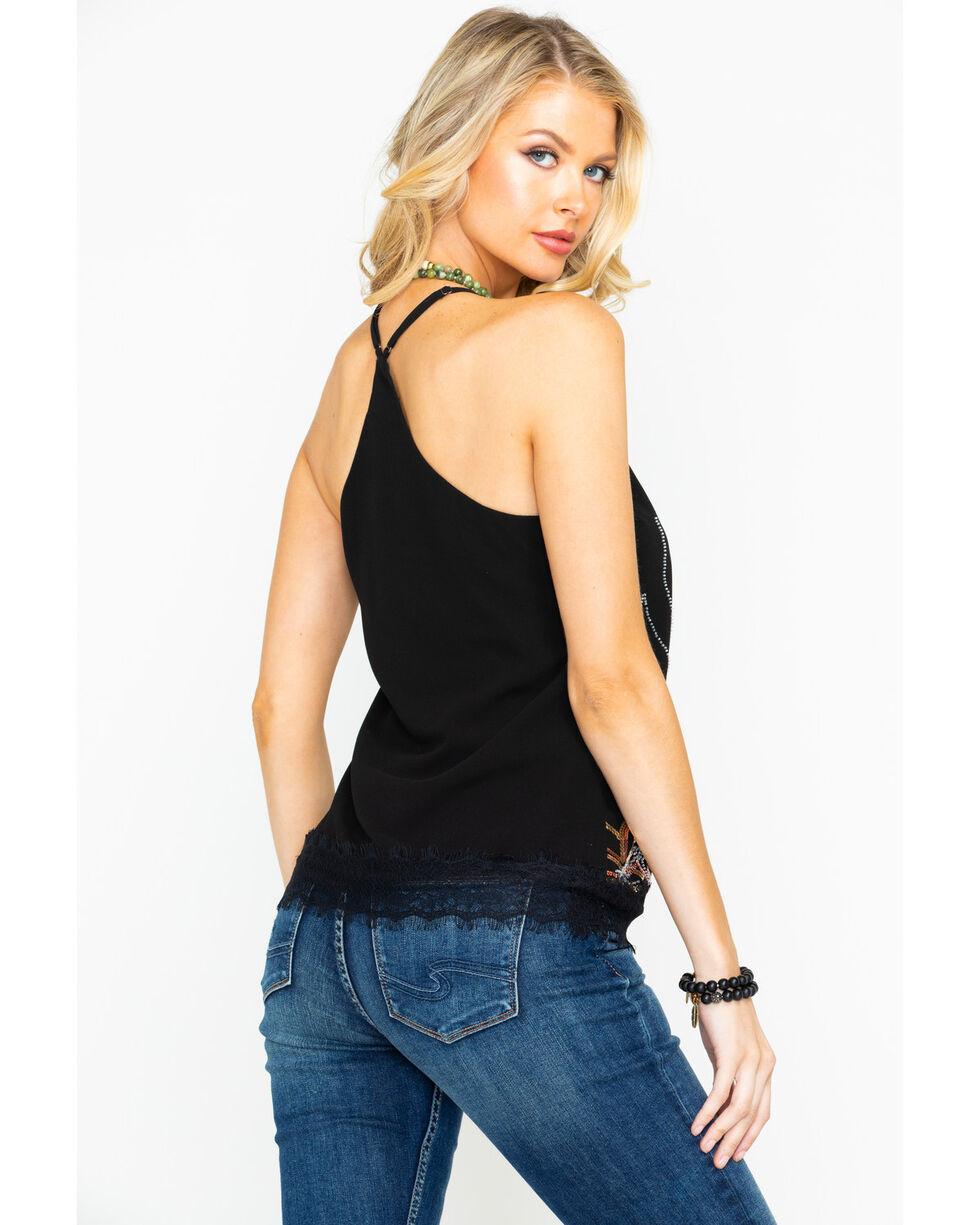 Miss Me Women's Sequin Tank Top, Black, hi-res