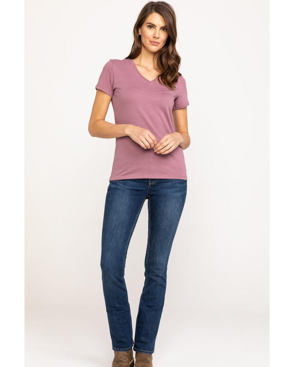 Carhartt Women's Lavender Lockhart V-Neck Short Sleeve T-Shirt, Lavender, hi-res