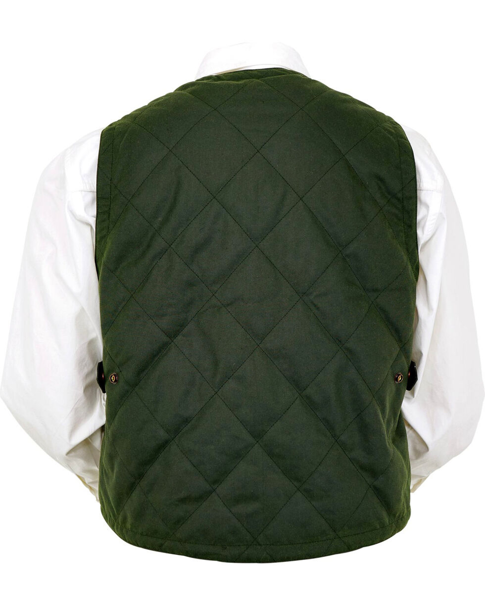 Outback Trading Co. Men's Green Drover Vest , Green, hi-res
