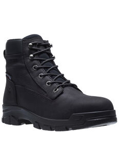 Wolverine Men's Chainhand Waterproof Work Boots - Soft Toe, Black, hi-res