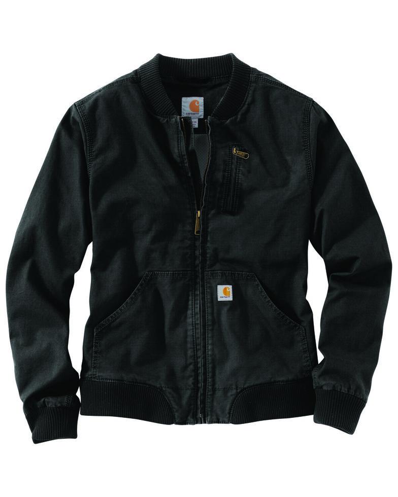 Carhartt Women's Crawford Bomber Jacket, Black, hi-res