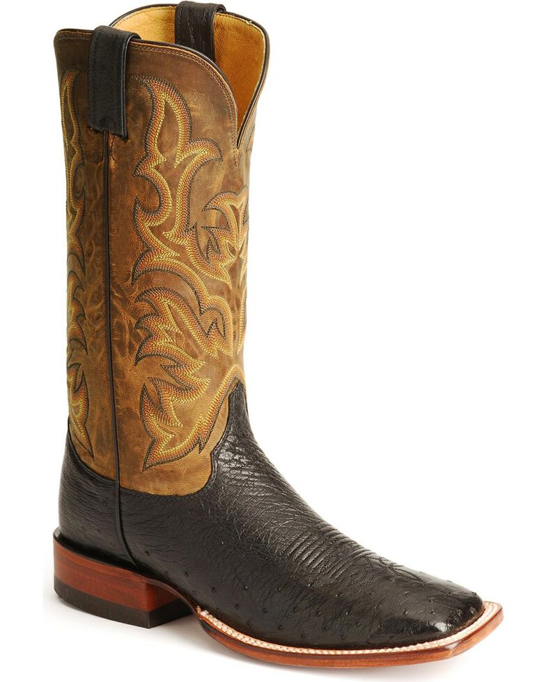 official photos 009ca 2916f Justin Men's Smooth Ostrich Exotic Western Boots