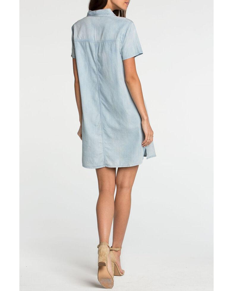Miss Me Women's Light Blue Floral Embroidered Shirt Dress, Light Blue, hi-res