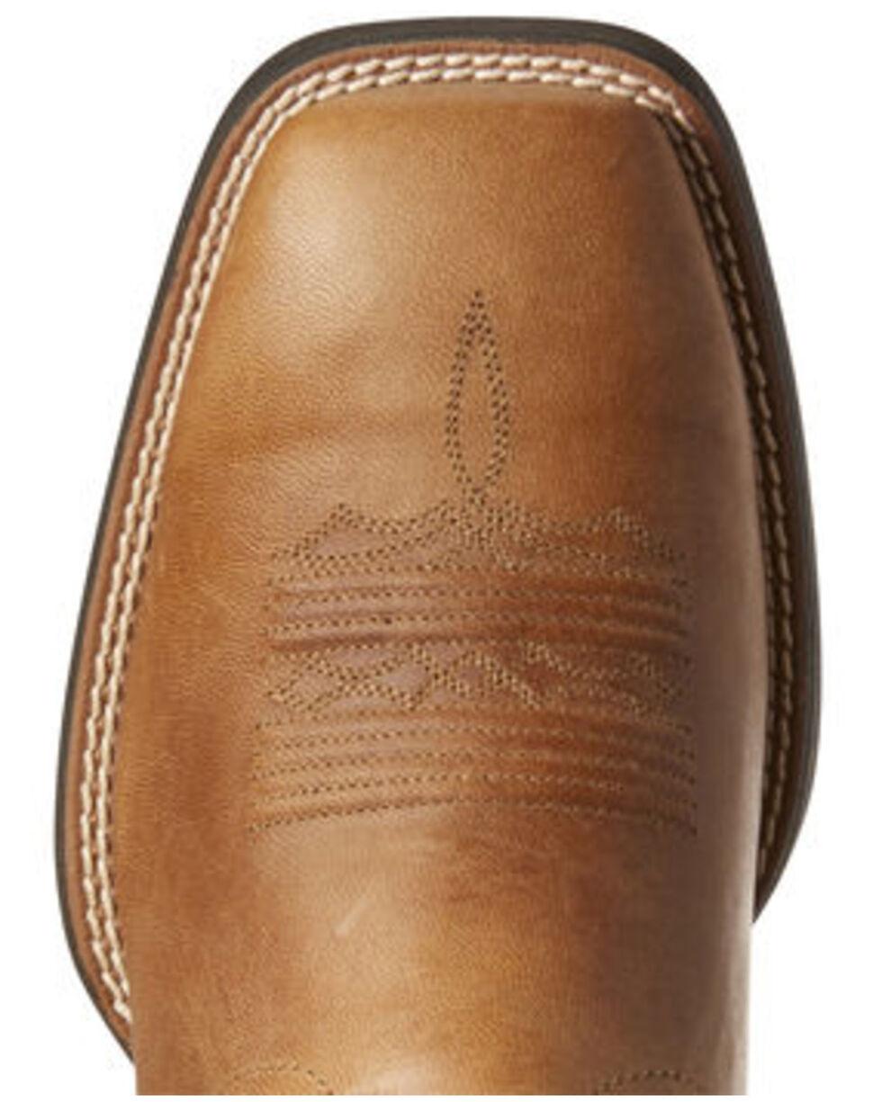 Ariat Men's Sport Riggin Western Boots - Wide Square Toe, Brown, hi-res