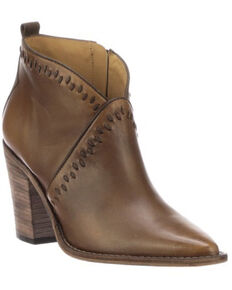 Lucchese Women's Anita Fashion Booties - Pointed Toe, Chocolate, hi-res
