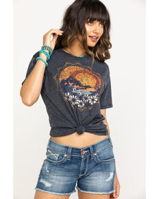 White Crow Women's Charcoal Desert Sun Tee, Charcoal, hi-res