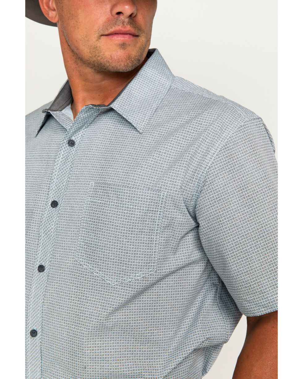 Cody James® Men's Patterned Short Sleeve Shirt, Light/pastel Blue, hi-res