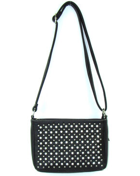 Savana Women's Black Professional Carry Embellished Crossbody Purse , Black, hi-res