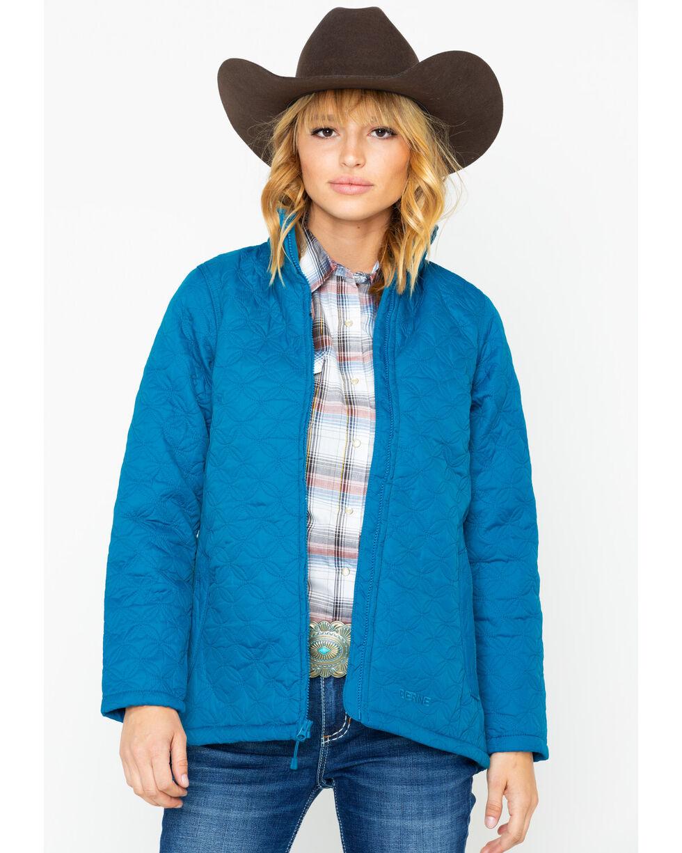 Berne Women's Nylon Quilted Trek Work Jacket, Green, hi-res