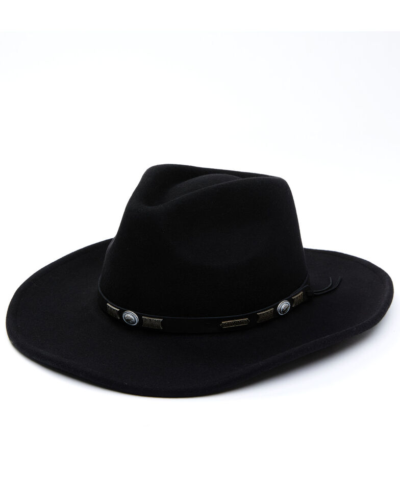 Cody James Men's Black Wool Felt Pinch Crease Western Hat, Black, hi-res