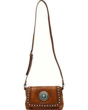 Blazin Roxx Charlotte Crossbody Bag, Brown, hi-res