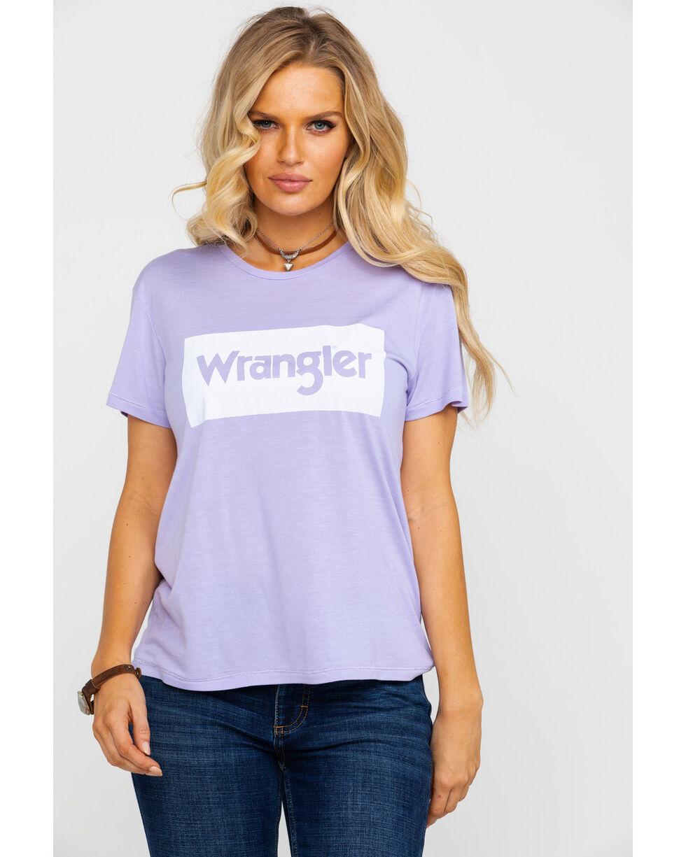 Wrangler Women's Modern Lilac Short Sleeve Logo Graphic Tee , Light Purple, hi-res