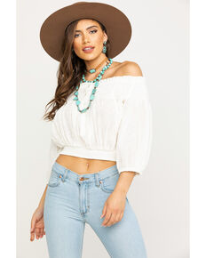 Free People Women's Dancing Till Dawn Top, White, hi-res