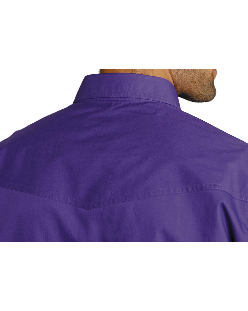 Roper Men's Amarillo Collection Western Shirt, Purple, hi-res