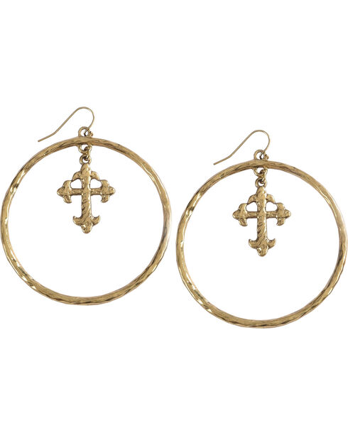 Shyanne Women s Cross Hoop Earrings