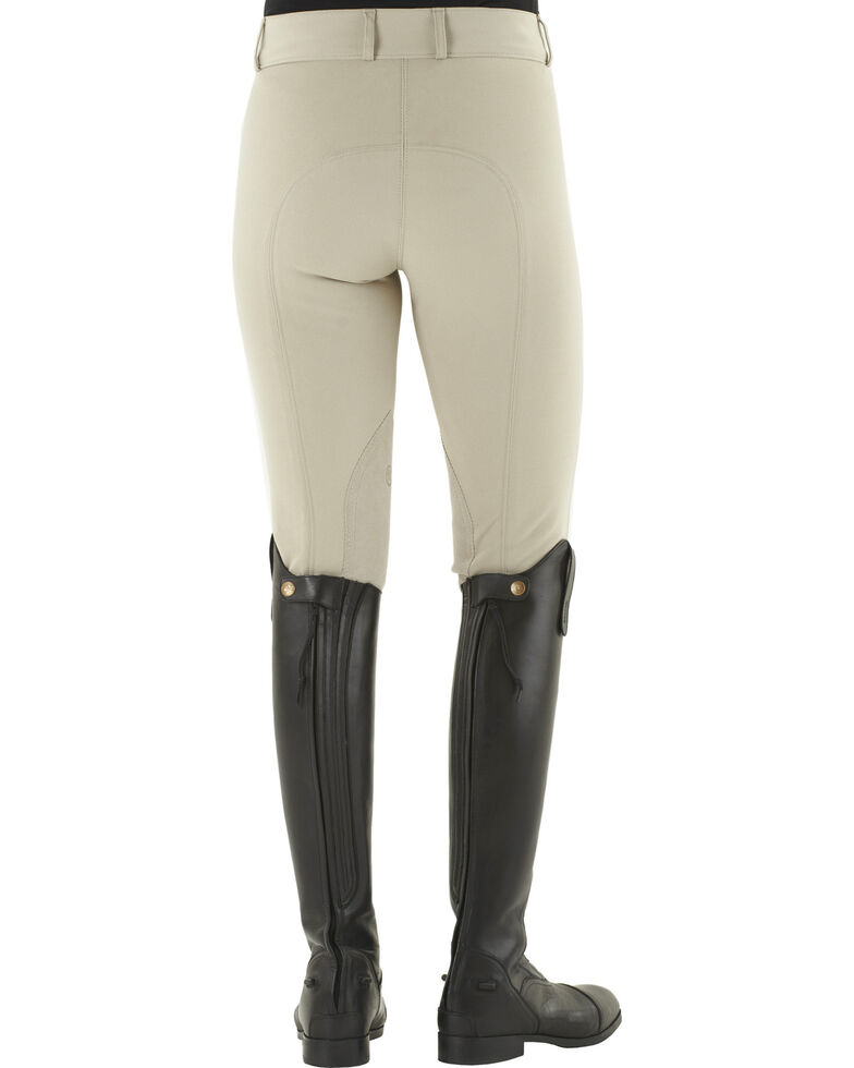 Ovation Celebrity Slimming Knee Patch DX Breeches, Beige, hi-res