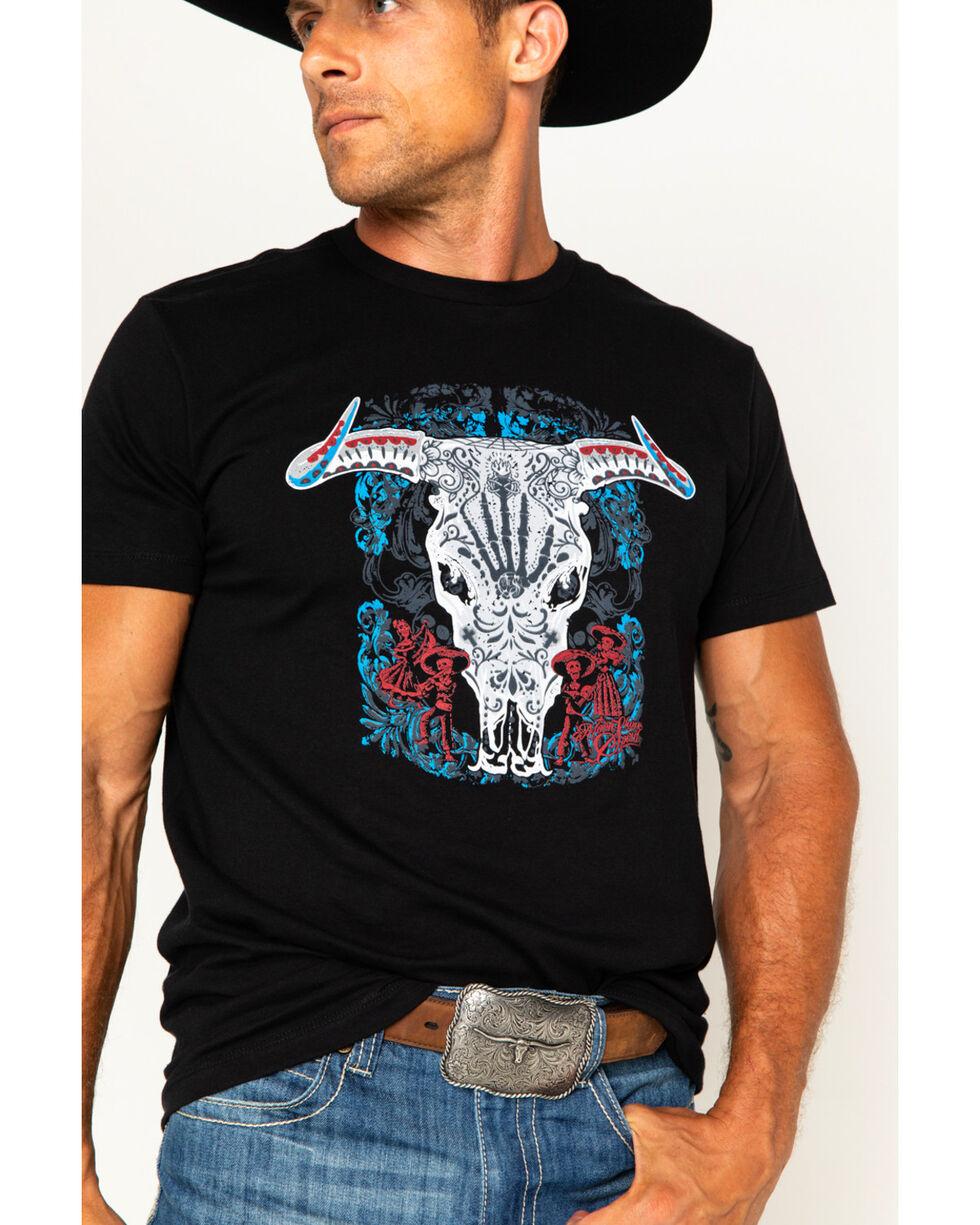 Moonshine Spirit Men's Day Of The Dead T-Shirt, Black, hi-res