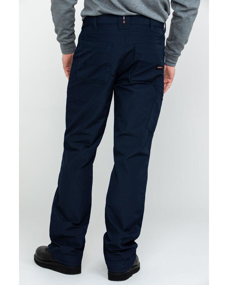 Ariat Men's Navy FR M4 Duralight Ripstop Work Pants , Navy, hi-res