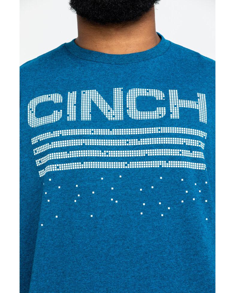 Cinch Men's 3X Turquoise Geo Print Long Sleeve Western Shirt , Turquoise, hi-res