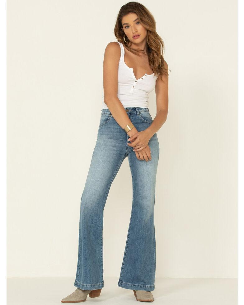 Rolla's Women's Medium East Coast Flare Jeans , Blue, hi-res