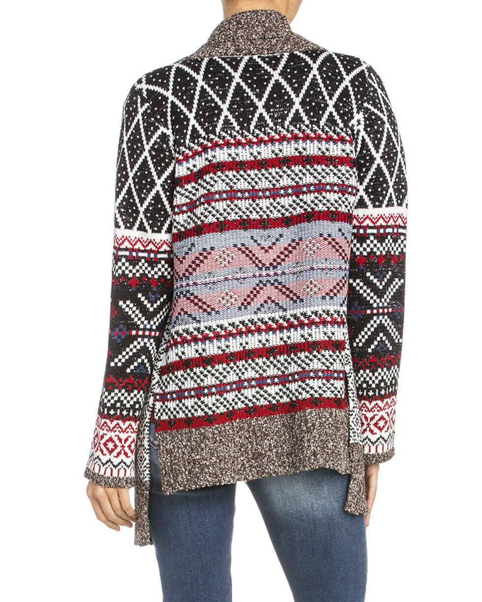 Miss Me Women's Aztec Cardigan Sweater, Multi, hi-res