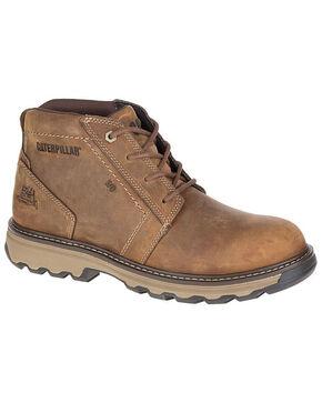 CAT Men's Parker ESD Work Boots - Round Toe, Beige/khaki, hi-res