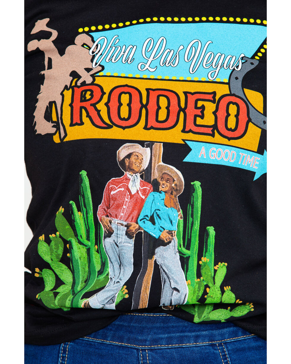 Rodeo Quincy Women's Viva Las Vegas Crew Graphic Tee , Black, hi-res