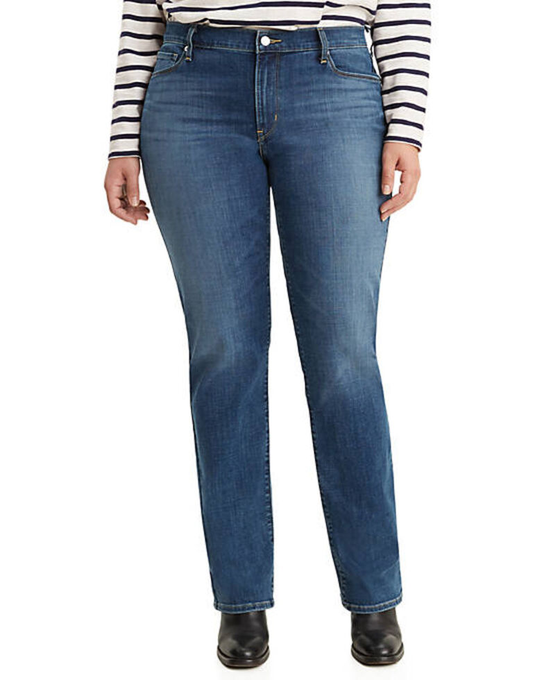 Levi's Women's Classic Maui Waterfall Straight Jeans - Plus, Blue, hi-res