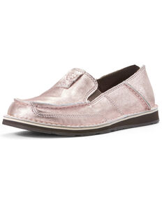 Ariat Women's Rose Gold Cruiser Shoes - Moc Toe, Pink, hi-res